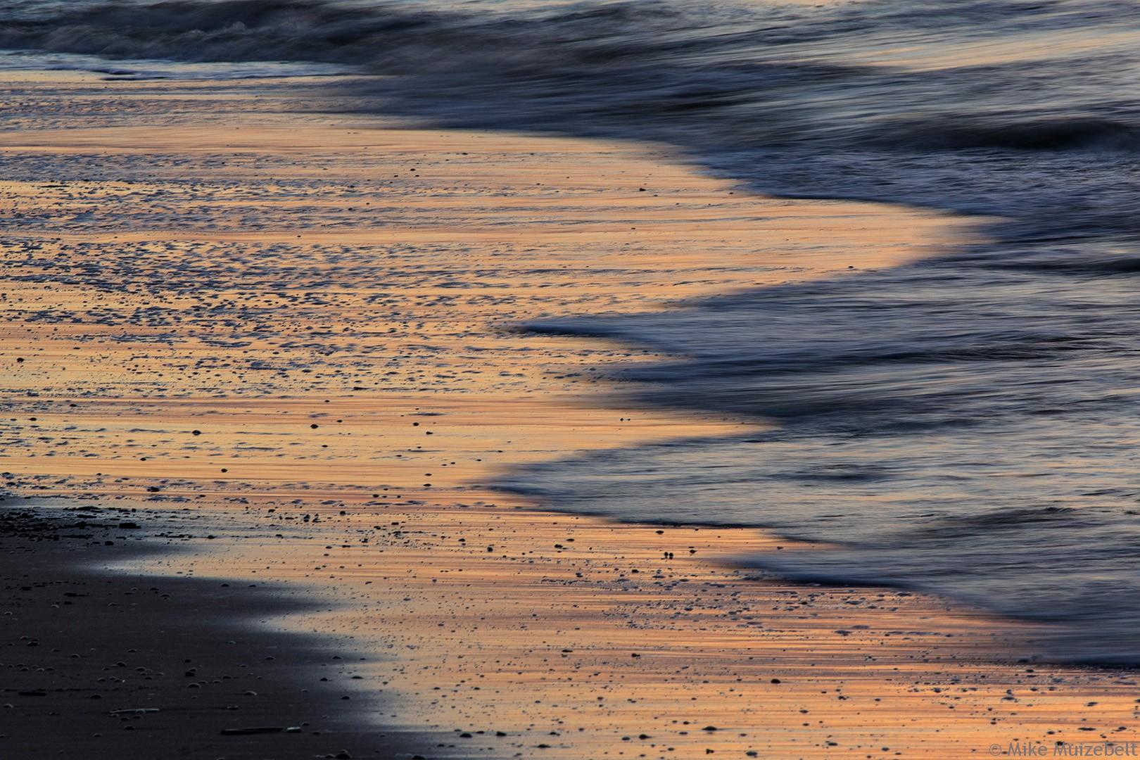 #wassenaar #sunset #beach #red #scheveningen #water #retreating #flow