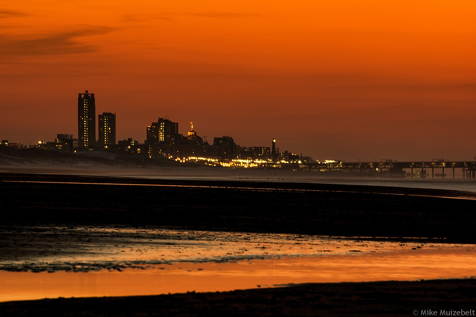 #wassenaar #sunset #beach #red #scheveningen
